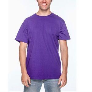 Fruit Of The Loom Purple T-Shirt